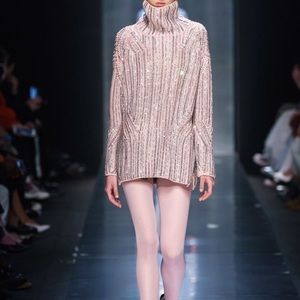 Ermanno Scervino crystal-embellished sweater dress